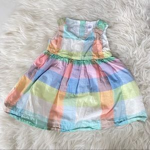 Gap girls dress plaid check print colors